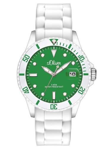 sOliver Damen-Armbanduhr Analog Quarz Silikon SO-2710-PQ