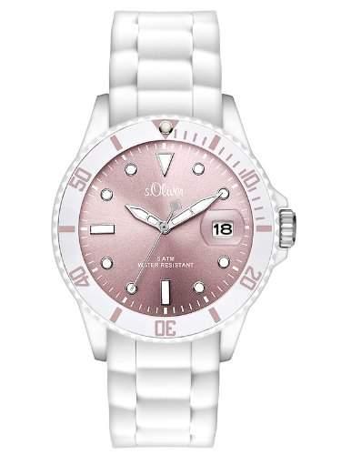 sOliver Damen-Armbanduhr Analog Quarz Silikon SO-2713-PQ