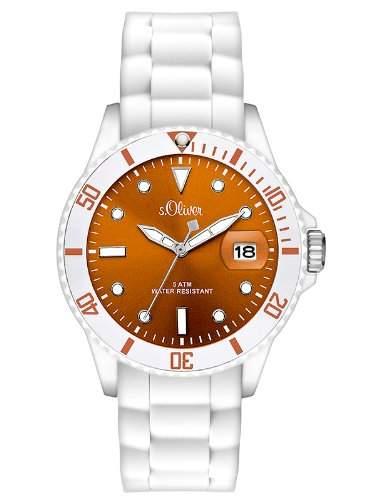 sOliver Damen-Armbanduhr Analog Quarz Silikon SO-2716-PQ