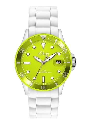sOliver Damen-Armbanduhr Analog Quarz Silikon SO-2718-PQ