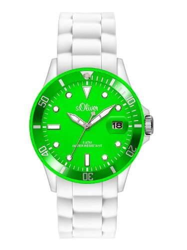 sOliver Damen-Armbanduhr Analog Quarz Silikon SO-2719-PQ