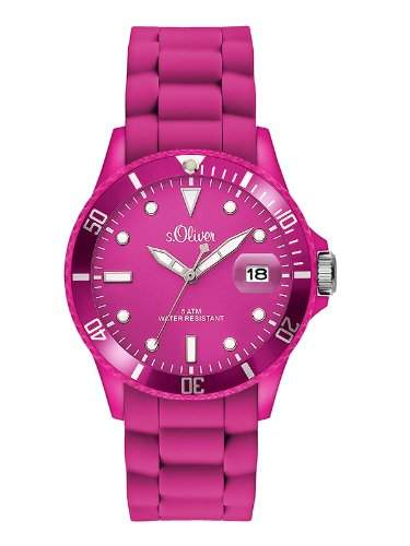 sOliver Damen-Armbanduhr Analog Quarz Silikon SO-2740-PQ