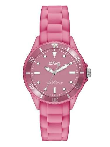 sOliver Damen-Armbanduhr XS Analog Quarz Silikon SO-2749-PQ