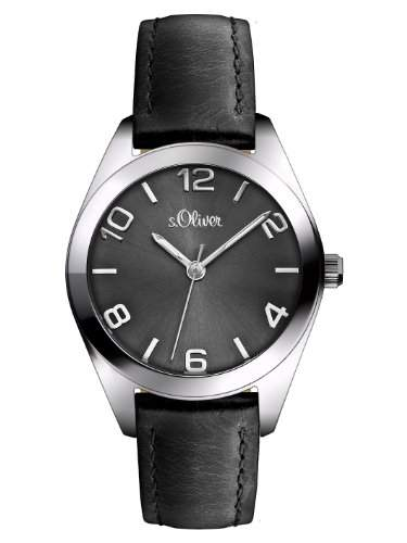 sOliver Damen-Armbanduhr XS Analog Quarz Leder SO-2769-LQ