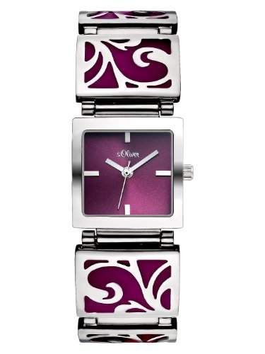 sOliver Damen-Armbanduhr XS Analog Quarz Edelstahl SO-2779-MQ