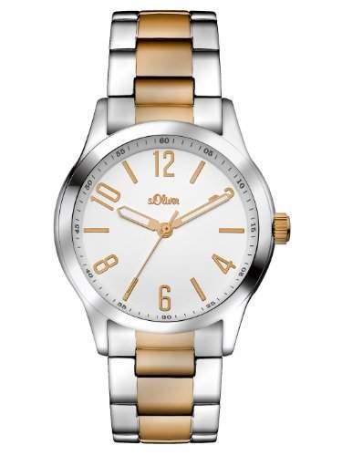 sOliver Damen-Armbanduhr XS Analog Quarz Edelstahl SO-2781-MQ