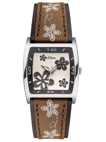 sOliver Damen-Armbanduhr XS Analog Quarz Leder SO-2788-LQ