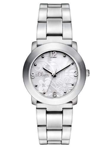 sOliver Damen-Armbanduhr XS Analog Quarz Edelstahl SO-2792-MQ