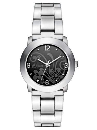 sOliver Damen-Armbanduhr XS Analog Quarz Edelstahl SO-2793-MQ