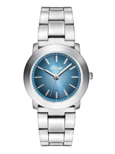 sOliver Damen-Armbanduhr XS Analog Quarz Edelstahl SO-2798-MQ