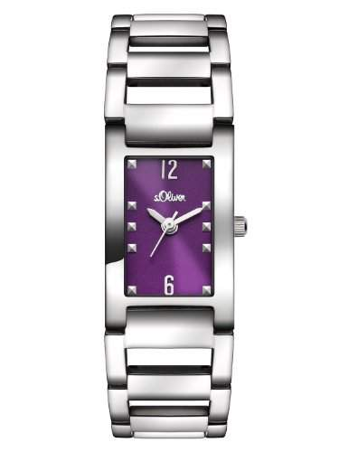 sOliver Damen-Armbanduhr XS Analog Quarz Edelstahl SO-2803-MQ