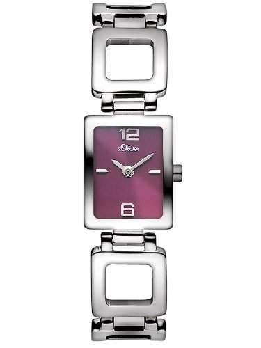 sOliver Damen-Armbanduhr Analog Quarz Edelstahl SO-2811-MQ