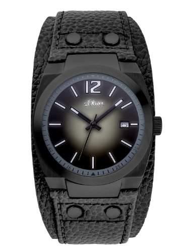 sOliver Herren-Armbanduhr XL Analog Quarz Leder SO-2822-LQ
