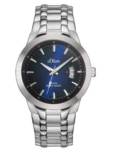 sOliver Herren-Armbanduhr XL Analog Quarz Edelstahl SO-2823-MQ