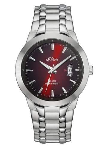 sOliver Herren-Armbanduhr XL Analog Quarz Edelstahl SO-2824-MQ