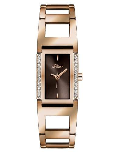 sOliver Damen-Armbanduhr XS Analog Quarz Edelstahl SO-2840-MQ