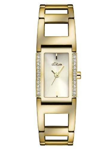 sOliver Damen-Armbanduhr XS Analog Quarz Edelstahl SO-2841-MQ