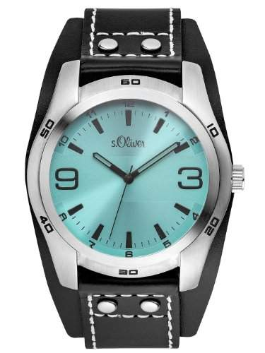 sOliver Herren-Armbanduhr XL Analog Quarz Leder SO-2882-LQ