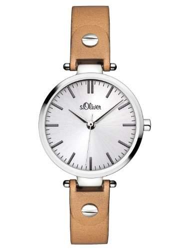 sOliver Damen-Armbanduhr XS Analog Quarz Leder SO-2887-LQ