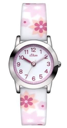 sOliver Maedchen-Armbanduhr Analog Quarz Silikon SO-2898-PQ