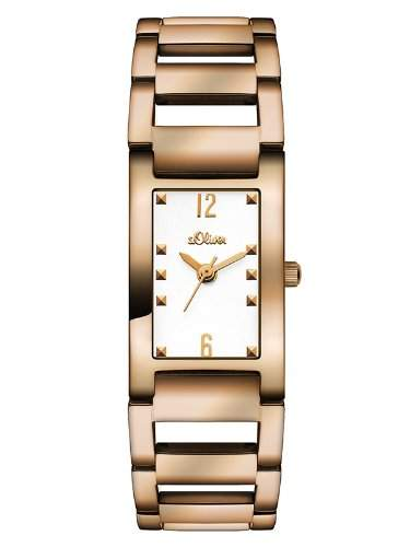 sOliver Damen-Armbanduhr Analog Quarz Edelstahl SO-2901-MQ