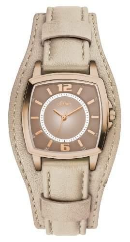 sOliver Damen-Armbanduhr XS Analog Quarz Leder SO-2906-LQ