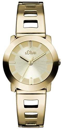 sOliver Damen-Armbanduhr XS Analog Quarz Edelstahl beschichtet SO-2916-MQ