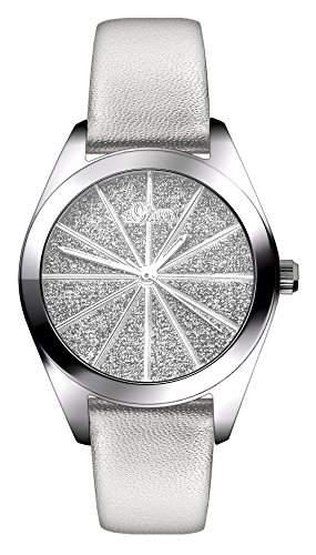 sOliver Damen-Armbanduhr XS Analog Quarz Leder SO-2921-LQ