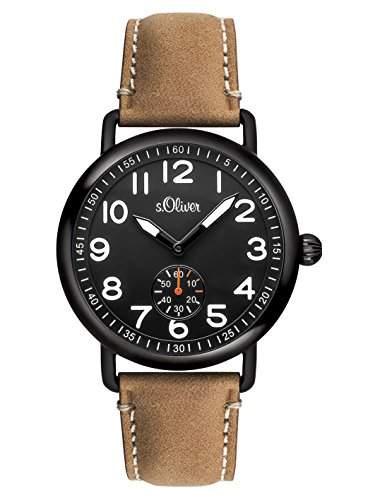 sOliver Herren-Armbanduhr XL Analog Quarz Leder SO-2925-LQ