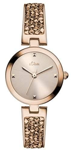 sOliver Damen-Armbanduhr XS Analog Quarz Edelstahl beschichtet SO-2944-MQ