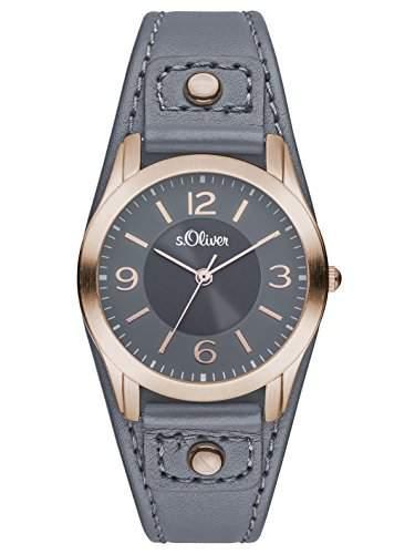 sOliver Damen-Armbanduhr XS Analog Quarz Leder SO-2947-LQ