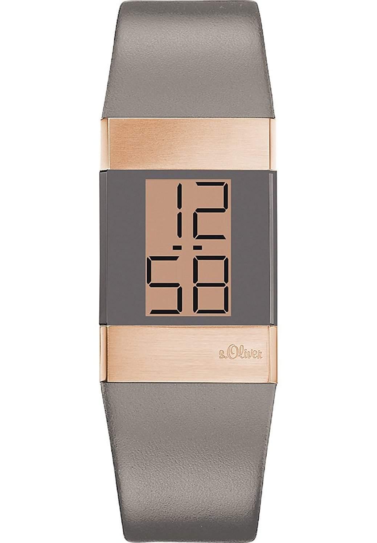 sOliver Damen-Armbanduhr XS Digital Quarz Leder SO-2950-LD