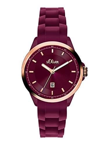 sOliver Damen-Armbanduhr XS Analog Quarz Silikon SO-2954-PQ