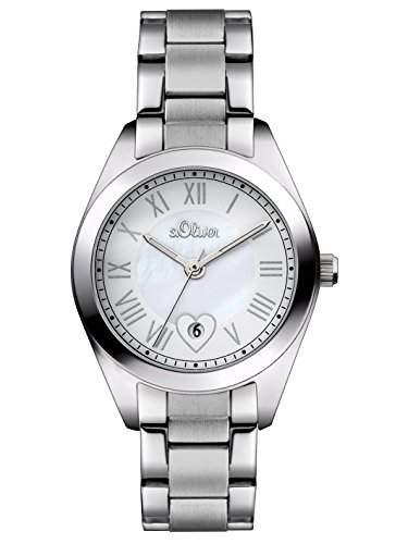 sOliver Damen-Armbanduhr XS Analog Quarz Edelstahl SO-2974-MQ