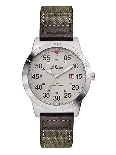 sOliver Herren-Armbanduhr XL Analog Quarz Leder SO-2979-LQ