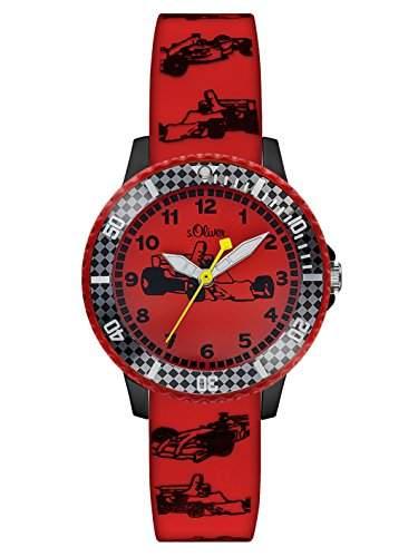 sOliver Jungen-Armbanduhr Analog Quarz Silikon SO-2981-PQ