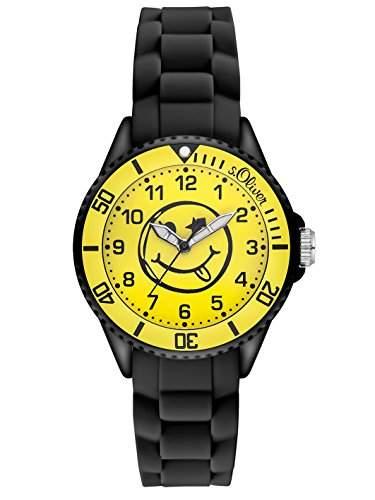sOliver Unisex-Armbanduhr Analog Quarz Silikon SO-2997-PQ