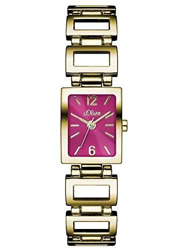 sOliver Damen-Armbanduhr Analog Quarz Alloy SO-3031-MQ