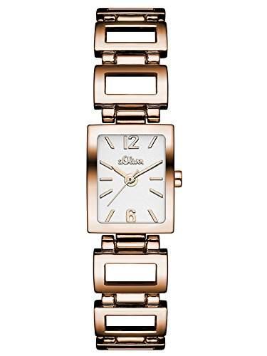 sOliver Damen-Armbanduhr Analog Quarz Alloy SO-3033-MQ