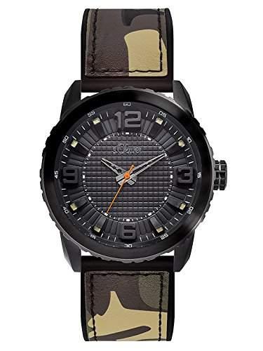 sOliver Herren-Armbanduhr XL Analog Quarz Kautschuk SO-3040-PQ