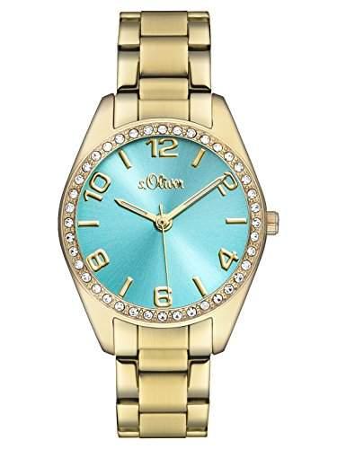 sOliver Damen-Armbanduhr Analog Quarz Edelstahl SO-3054-MQ