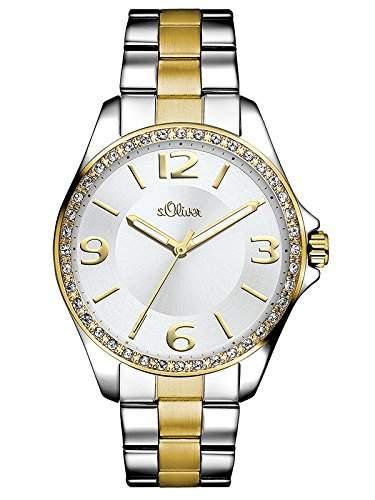 sOliver Damen-Armbanduhr Analog Quarz Edelstahl SO-3058-MQ