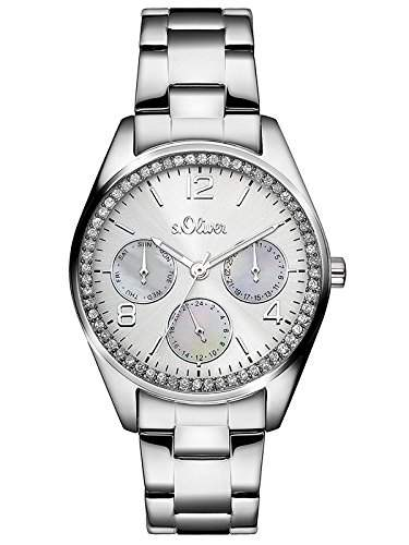 sOliver Damen-Armbanduhr Analog Quarz Edelstahl SO-3063-MM