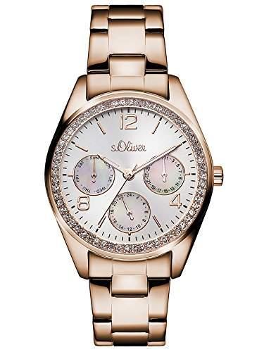 sOliver Damen-Armbanduhr Analog Quarz Edelstahl SO-3064-MM
