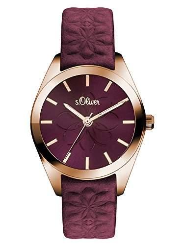 sOliver Damen-Armbanduhr Analog Quarz Leder SO-3080-LQ
