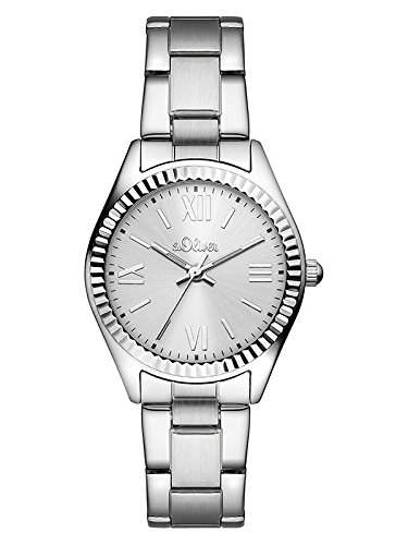 sOliver Damen-Armbanduhr Analog Quarz Edelstahl SO-3082-MQ