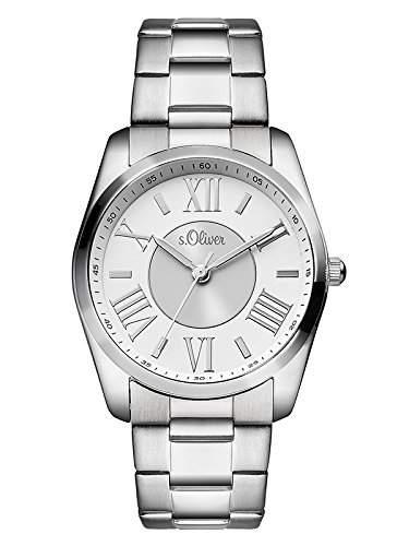 sOliver Damen-Armbanduhr Analog Quarz Edelstahl SO-3085-MQ