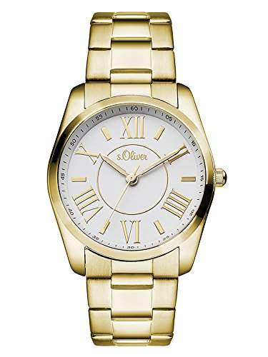 sOliver Damen-Armbanduhr Analog Quarz Edelstahl SO-3086-MQ
