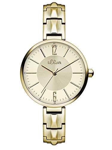sOliver Damen-Armbanduhr Analog Quarz Edelstahl SO-3089-MQ