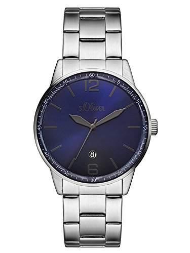 sOliver Herren-Armbanduhr Analog Quarz Edelstahl SO-3099-MQ